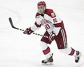 Brayden Jaw (Harvard - 10) - The Harvard University Crimson defeated the visiting Princeton University Tigers 5-0 on Harvard's senior night on Saturday, February 28, 2015, at Bright-Landry Hockey Center in Boston, Massachusetts.