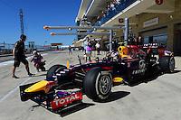 Daniel Ricciardo of Infiniti Red Bull Racing driving (3) RB10 during second practice session of  2014 Formula 1 United States Grand Prix, Friday, October 31, 2014 in Austin, Tex. (Mo Khursheed/TFV Media via AP Images)