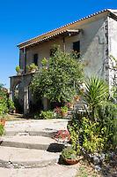 Typical Corfiot grand house in Perithia, Northern Corfu, Greece