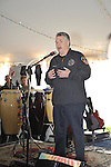 Fund raiser for firefighter Ray Pfeifer on Saturday, March 31, 2012, at East Meadow Firefighters Benevolent Hall, New York, USA. Congressman Pete King (Republican - NY) wore a FDNY 343 Patch on his jacket in memory of the 343 firefighters lost in 9/11 attack.