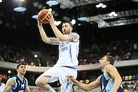 GB's Gareth Murray leaps during the EuroBasket 2015 2nd Qualifying Round Great Britain v Bosnia & Herzegovina (Euro Basket 2nd Qualifying Round) at Copper Box Arena in London. - 13/08/2014