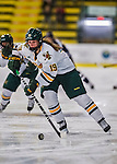 2 February 2013: University of Vermont Catamount forward Brittany Zuback, a Sophomore from Thunder Bay, Ontario, in action against the University of New Hampshire Wildcats at Gutterson Fieldhouse in Burlington, Vermont. The Lady Wildcats defeated the Lady Catamounts 4-2 in Hockey East play. Mandatory Credit: Ed Wolfstein Photo
