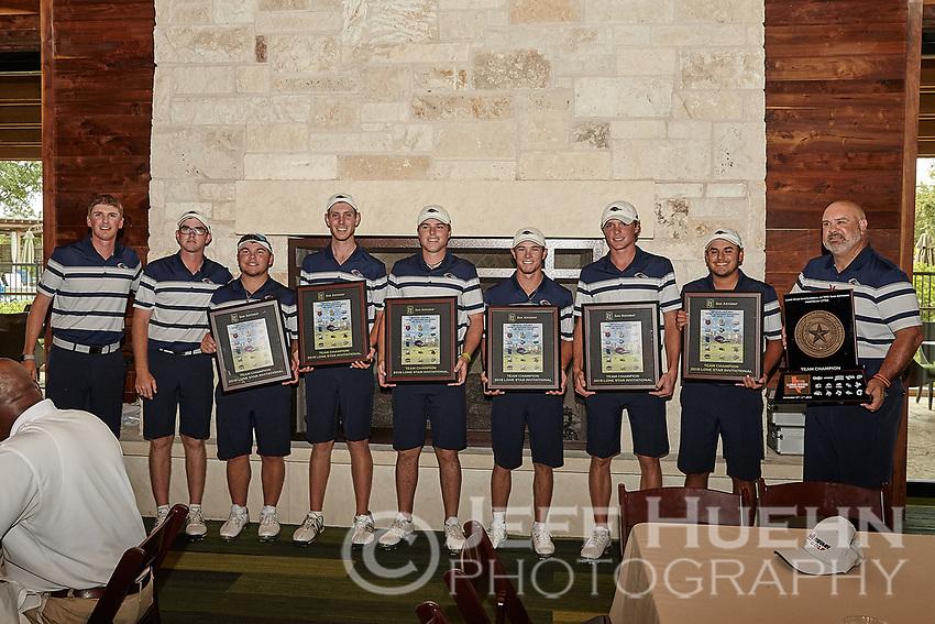 SAN ANTONIO, TX - SEPTEMBER 11, 2018: The University of Texas at San Antonio Roadrunners win the UTSA Lone Star Invitational Golf Tournament at the TPC San Antonio Oaks Course. (Photo by Jeff Huehn)