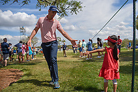 Justin Rose (ENG) makes a young fan's day on his way to the tee on 8 during round 3 of the Arnold Palmer Invitational at Bay Hill Golf Club, Bay Hill, Florida. 3/9/2019.<br /> Picture: Golffile | Ken Murray<br /> <br /> <br /> All photo usage must carry mandatory copyright credit (&copy; Golffile | Ken Murray)