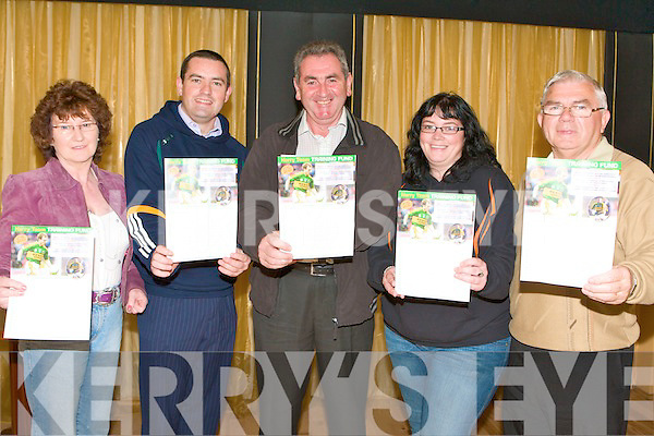 TRAINING FUND: Launching the Kerry Supporters Club Kerry Team Training Fund draw at Ballygarry House Hotel on Monday l-r: Carmel Mansfield, Chutehall, Tim O'Rourke, Kilflynn, John O'Connell, Doon, Karen McAuliffe and Tom Rohan, Newcastlewest.