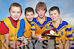 Rory Clifford, Ronan Curran, Brian English and Janmes Suter, Beaufort, at the Kerry Community Games table tennis finals in St Marys Parish Hall, Killarney on Sunday.........................
