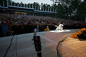 The Avett Brothers play to a sold-out crowd at Koka Booth Amphitheater in Cary, July 26, 2008.
