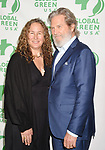 LOS ANGELES, CA - FEBRUARY 22: Actor Jeff Bridges (R) and environmentalist Dianna Cohen arrive at the 14th Annual Global Green Pre-Oscar Gala at TAO Hollywood on February 22, 2017 in Los Angeles, California.