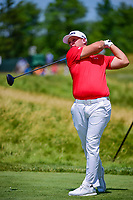 Daniel Summerhays (USA) watches his tee shot on 12 during Thursday's round 1 of the 117th U.S. Open, at Erin Hills, Erin, Wisconsin. 6/15/2017.<br /> Picture: Golffile | Ken Murray<br /> <br /> <br /> All photo usage must carry mandatory copyright credit (&copy; Golffile | Ken Murray)