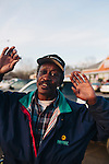 Chester Lee Smith, 53, stands outside of Fuller's Supermarket Super Saver on February 28, 2013 in Greensboro, Alabama, where over a quarter of the population receives Social Security Disability benefits. <br /> Mr. Smith said he is trying to get on disability because of heart problems--he has already had one heart attack.