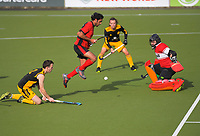 Action from the Wellington Hockey men's open grade premier one match between Naenae and Dalefield at National Hockey Stadium in Wellington, New Zealand on Saturday, 22 June 2019. Photo: Dave Lintott / lintottphoto.co.nz