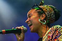 CIUDAD DE MÉXICO, Agosto 15, 2014. El grupo argentino, Alika y la Nueva Alianza durante su concierto en el Plaza Condesa de la Ciudad de México, el 25 de agosto de 2014. FOTO: ALEJANDRO MELÉNDEZ