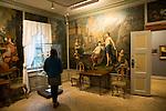 The Blumenthal Room murals and displays, Kode 3 art gallery Bergen, Norway paintings by Mathias Blumenthal, 1760