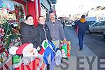 Christmas shopping in Castleisland on Thursday were Thresa Prendeville, Angela McGaley and Denis Prendeville.