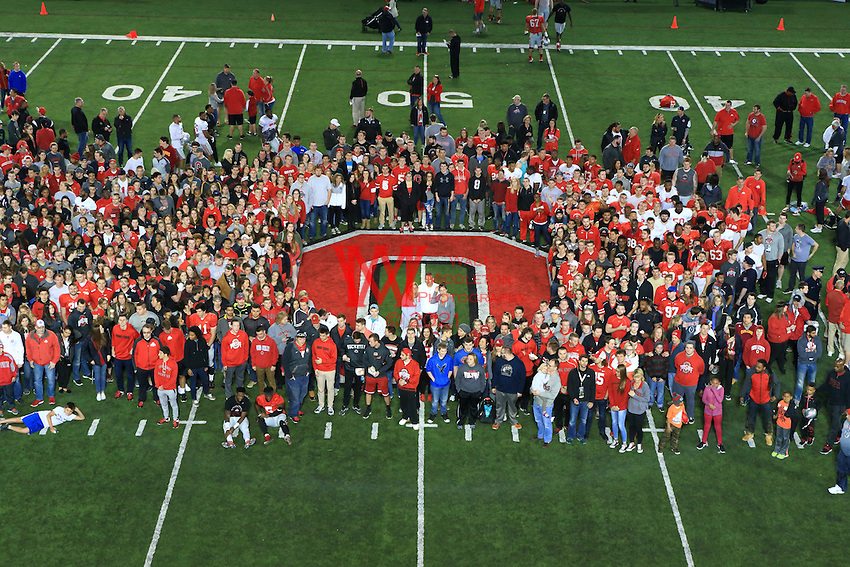 The Ohio State University football team have their annual Student Appreciation Day at the Wood Hayes practice facility. April 2, 2016