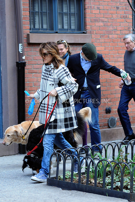 WWW.ACEPIXS.COM . . . . . ....March 31 2010, New York City....Actress Jennifer Esposito seen walking her dogs in the West Village area on March 31 2010 in New York City....Please byline: KRISTIN CALLAHAN - ACEPIXS.COM.. . . . . . ..Ace Pictures, Inc:  ..tel: (212) 243 8787 or (646) 769 0430..e-mail: info@acepixs.com..web: http://www.acepixs.com