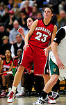 4 January 2010: University of Nebraska Cornhuskers' forward Kelsey Griffin, a Senior from Eagle River, Alaska, in action against the University of Vermont Catamounts at Patrick Gymnasium in Burlington, Vermont. Griffin produced her fifth double-double of the season, scoring 25 points and grabbing a career-high 16 rebounds to lead Nebraska to an impressive 94-50 win over Vermont. The Huskers, finishing off their first perfect non-conference season in school history, improved to 13-0 with the win over the Lady Cats. Mandatory Credit: Ed Wolfstein Photo