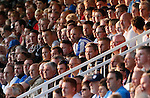 Hartlepool United 0 Sunderland 3, 20/07/2016. Victoria Park, Pre Season Friendly. Hartlepool United v Sunderland. Hartlepool fans watch the game in evening sunlight. Photo by Paul Thompson.