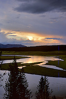 Yellowstone River at sunset.