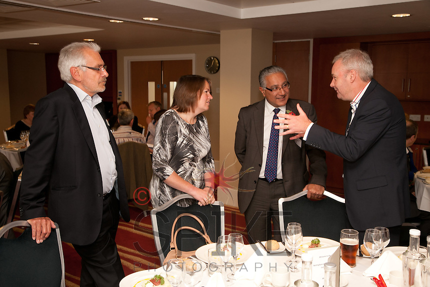 From Left are John Collins of PCA-Adler, Pamela Wright Bank of England, Danny Parmar of Overbury plc and Clive Williams of Waldeck