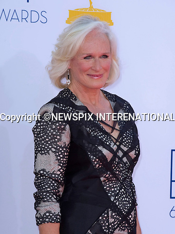 "GLEN CLOSE - 64TH PRIME TIME EMMY AWARDS.Nokia Theatre Live, Los Angelees_23/09/2012.Mandatory Credit Photo: ©Dias/NEWSPIX INTERNATIONAL..**ALL FEES PAYABLE TO: ""NEWSPIX INTERNATIONAL""**..IMMEDIATE CONFIRMATION OF USAGE REQUIRED:.Newspix International, 31 Chinnery Hill, Bishop's Stortford, ENGLAND CM23 3PS.Tel:+441279 324672  ; Fax: +441279656877.Mobile:  07775681153.e-mail: info@newspixinternational.co.uk"