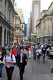 BRAZIL, Rio de Janiero, the crowded streets of the Financial District