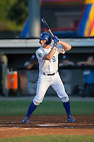 Kort Peterson (8) of the Burlington Royals at bat against the Princeton Rays at Burlington Athletic Stadium on June 24, 2016 in Burlington, North Carolina.  The Rays defeated the Royals 16-2.  (Brian Westerholt/Four Seam Images)