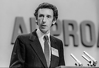 David Howell, MP, Conservative Party, UK, Secretary of State for Transport, speaking at October 1982 annual conference, 19821000022901<br /><br />Copyright Image from Victor Patterson, 54 Dorchester Park, <br />Belfast, UK, BT9 6RJ<br /><br />t1: +44 28 9066 1296 (from Rep of Ireland 048 9066 1296)<br />t2: +44 28 9002 2446 (from Rep of Ireland 048 9002 2446)<br />m: +44 7802 353836<br /><br />victorpatterson@me.com<br />www.victorpatterson.com<br /><br />Please see my Terms and Conditions of Use at VICTORPATTERSON.COM. It is IMPORTANT that you familiarise yourself with them.<br /><br />Images used on the Internet must be visibly watermarked i.e. &copy;VICTORPATTERSON.COM within the body of the image and copyright metadata must not be deleted. Images used on the Internet have a size restriction of 4kbs and are chargeable at the then current NUJ rates.<br /><br />This image is only available for the use of the download recipient i.e. television station, newspaper, magazine, book publisher, etc, and must not be passed on to any third party. It is also downloaded on condition that each and every usage is notified within 7 days to victorpatterson@me.com<br /><br />The right of Victor Patterson to be identified as the author is asserted in accordance with The Copyright Designs And Patents Act (1988).