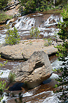 Duck Rock sits out in the middle of the Gibbon River in Yellowstone National Park.