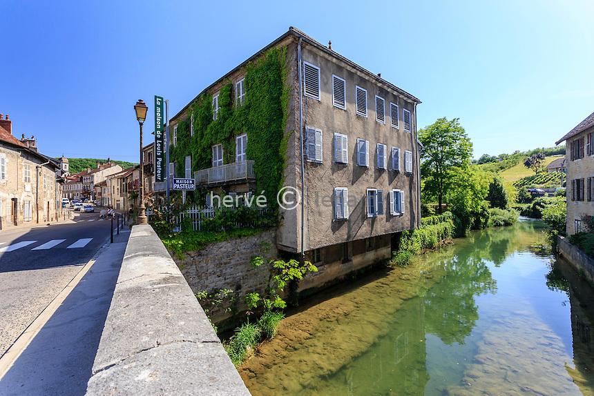 France, Jura (39), Arbois, la maison de Pasteur