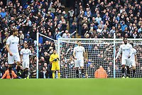 Swansea players reacts after Manchester City's Gabriel Jesus scored the first goal during the Premier League match between Manchester City and Swansea City at the Etihad Stadium, Manchester, England. Sunday 05 February 2017