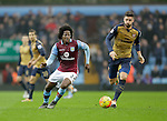 Carlos Sanchez of Aston Villa competes with Olivier Giroud of Arsenal - Football - Barclays Premier League - Aston Villa vs Arsenal - Villa Park Birmingham - 13th December 2015 - Season 2015/2016 - Photo Malcolm Couzens/Sportimage