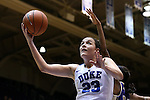 29 December 2015: Duke's Rebecca Greenwell. The Duke University Blue Devils hosted the Western Carolina University Catamounts at Cameron Indoor Stadium in Durham, North Carolina in a 2015-16 NCAA Division I Women's Basketball game.