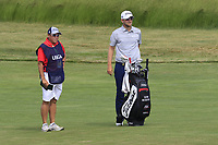 Bernd Wiesberger (AUT) and caddy Shane on the 5th hole during Friday's Round 2 of the 117th U.S. Open Championship 2017 held at Erin Hills, Erin, Wisconsin, USA. 16th June 2017.<br /> Picture: Eoin Clarke | Golffile<br /> <br /> <br /> All photos usage must carry mandatory copyright credit (&copy; Golffile | Eoin Clarke)