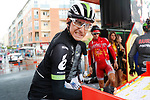 Omar Fraile (ESP) Team Dimension Data at sign on before the wet start of Stage 11 of the 2017 La Vuelta, running 187.5km from Lorca to Observatorio Astron&oacute;mico de Calar Alto, Spain. 30th August 2017.<br /> Picture: Unipublic/&copy;photogomezsport | Cyclefile<br /> <br /> <br /> All photos usage must carry mandatory copyright credit (&copy; Cyclefile | Unipublic/&copy;photogomezsport)