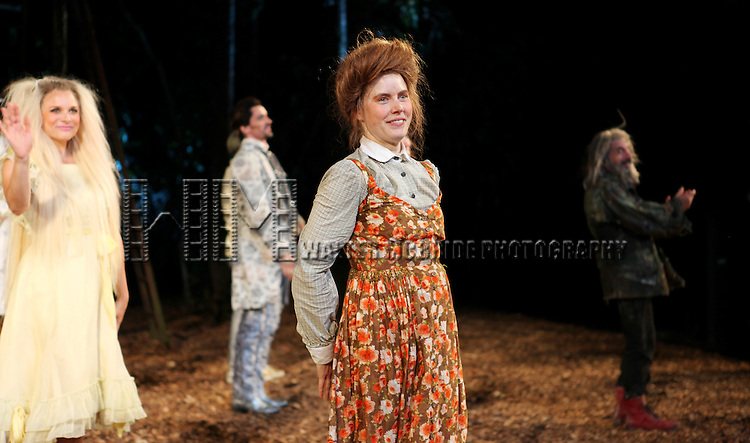 Amy Adams during the Opening Night Performance Curtain Call for  The Public Theater's 'Into The Woods' at the Delacorte Theater in New York City on 8/9/2012.