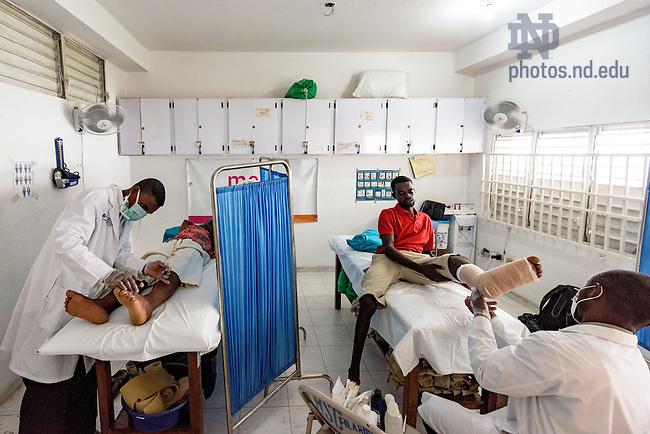 June 23, 2015; Lymphatic filariasis clinic, Leogane, Haiti. (Photo by Matt Cashore/University of Notre Dame)