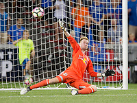 Cincinnati, OH - Tuesday August 15, 2017: Ryan Meara during a 2017 U.S. Open Cup game between FC Cincinnati vs New York Red Bulls at Nippert Stadium.