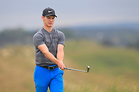 Rowan Lester (Hermitage) on the 8th tee during Round 2 of Match Play in the AIG Irish Close Championship at the European Club, Brits Bay, Wicklow, Ireland on Monday 6th August 2018.<br /> Picture: Thos Caffrey / Golffile