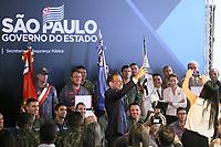 """SÃO PAULO, SP, 11.02.2019: POLÍTICA-SP: João Doria, Governador de São Paulo, homenageia policiais selecionados pelo programa de valorização """"Policial Nota 10"""", nesta segunda-feira, 11. ( Foto: Charles Sholl/Brazil Photo Press/Folhapress)"""