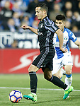 CD Leganes' Unai Bustinza (r) and Real Madrid's Lucas Vazquez during La Liga match. April 5,2017. (ALTERPHOTOS/Acero)