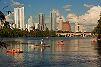 Water sports are a favorite pastime on Town Lake in Austin, TX