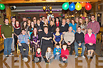 Katie O'Sullivan Firies seated centre that celebrated her 21st birthday in Sheahan's bar Firies on Friday night