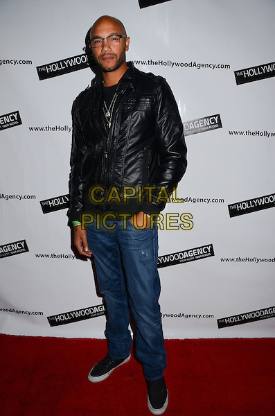 "Stephen Bishop.The Hollywood Agency presents a private after party for People's Choice Awards 2012 hosted by Mario Lopez of NBC's ""Extra"" held at Conga Room L.A. Live, Los Angeles, California, USA..January 11th, 2012.full length jeans denim black leather jacket .CAP/ADM/BT.©Birdie Thompson/AdMedia/Capital Pictures."