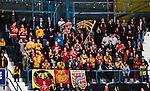 Stockholm 2014-01-08 Ishockey SHL AIK - Lule&aring; HF :  <br /> Lule&aring; supportrar p&aring; Hovet under matchen<br /> (Foto: Kenta J&ouml;nsson) Nyckelord:  supporter fans publik supporters