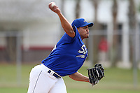 March 22, 2010:  Pitcher Jusef Frias (50) of the Long Island Storm during a game at the Carl Barger Training Complex in Melbourne, FL.  Photo By Mike Janes/Four Seam Images