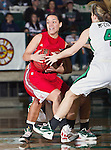 Louisiana Lafayette Ragin' Cajuns fr (hs) Samantha Roy (20) in action during the game between the Louisiana Lafayette Ragin' Cajuns and the University of North Texas Mean Green at the North Texas Coliseum,the Super Pit, in Denton, Texas. UNT defeats Louisiana Lafayette 78 to 40....