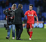 Brendan Rodgers manager of Liverpool greets wining goalscorer Philippe Coutinho of Liverpool - FA Cup Fourth Round replay - Bolton Wanderers vs Liverpool - Macron Stadium  - Bolton - England - 4th February 2015 - Picture Simon Bellis/Sportimage