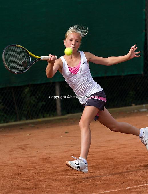 10-08-11, Tennis, Hillegom, Nationale Jeugd Kampioenschappen, NJK, Annick Melgers