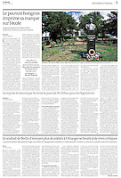 Le Monde (main French daily) on the Horthy cult and educational policies in Hungary, 2014.02.05. Photos: Martin Fejer